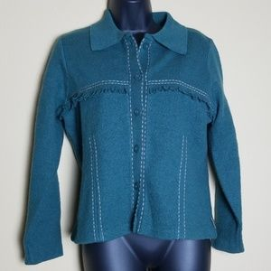 Woolrich Green Jacket with Fringe